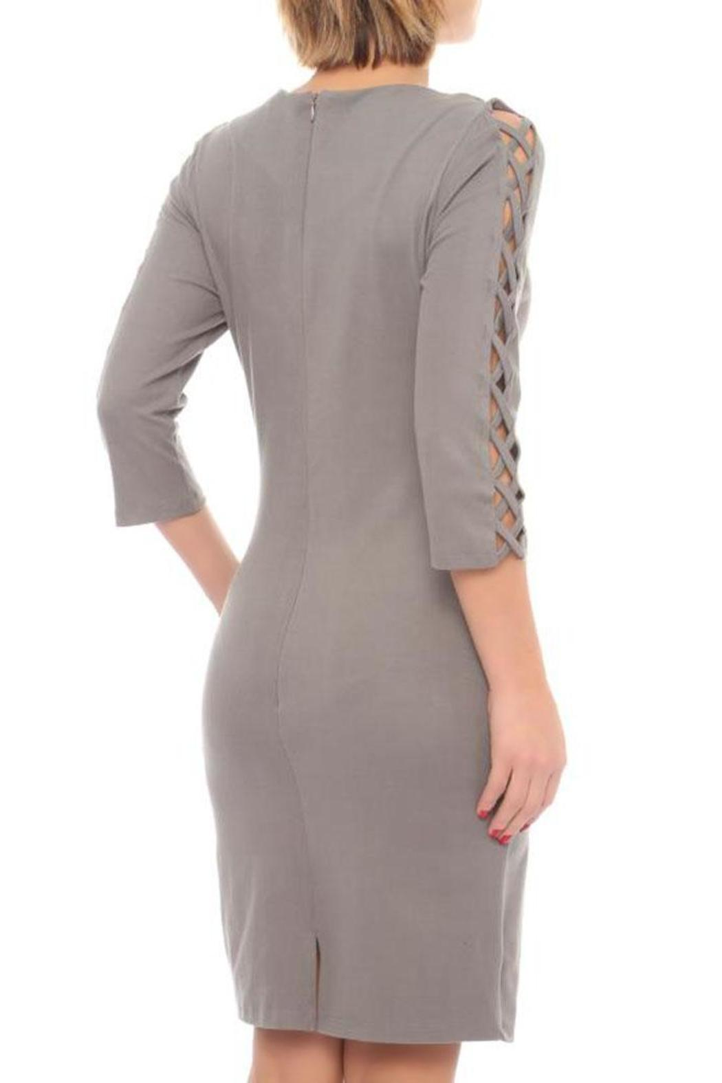 Lila Rose Fitted Dress - Front Full Image