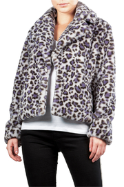 Elan Lilac Grey Crop Leopard Jacket - Product Mini Image