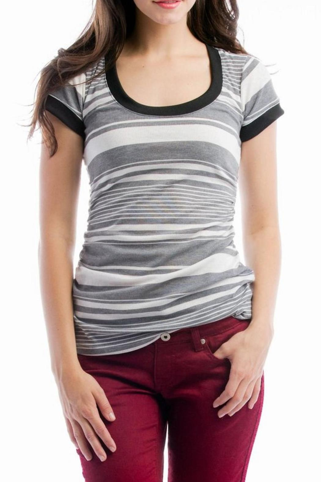 Lilac Hailey Maternity Tee - Front Full Image