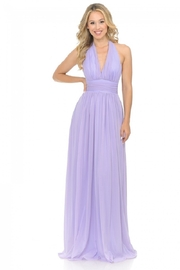 Lenovia  Lilac Halter Top Long Formal Dress - Product Mini Image