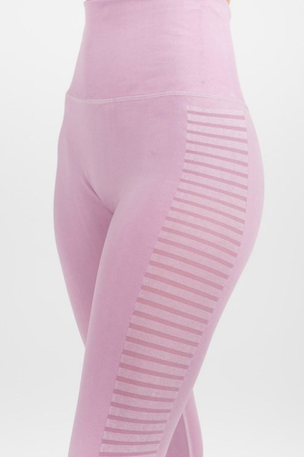 Imagine That Lilac Leggings - Side Cropped Image