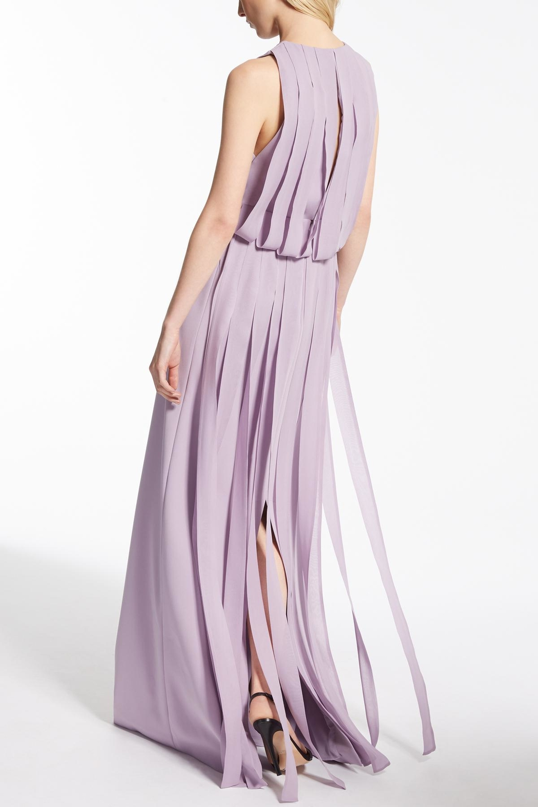 Max Mara Lilac Long Dress - Front Full Image