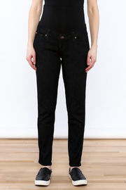 Lilac Maternity Black Skinny Jean - Side cropped