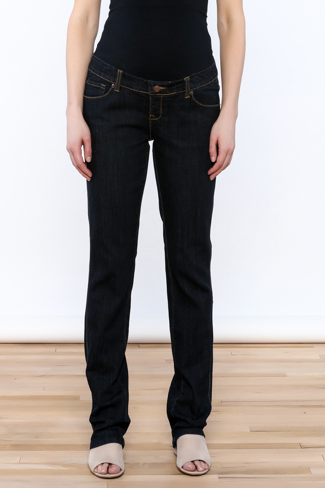 Lilac Maternity Straight Leg Jeans - Side Cropped Image
