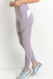 Mono B Lilac Mesh Leggings - Product Mini Image