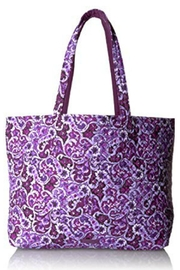 Vera Bradley Lilac Paisley Grand Tote - Front cropped