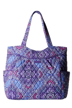 Shoptiques Product: Lilac Paisley Pleated-Tote