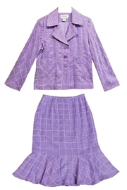 JSong Lilac Plaid Suit - Product Mini Image