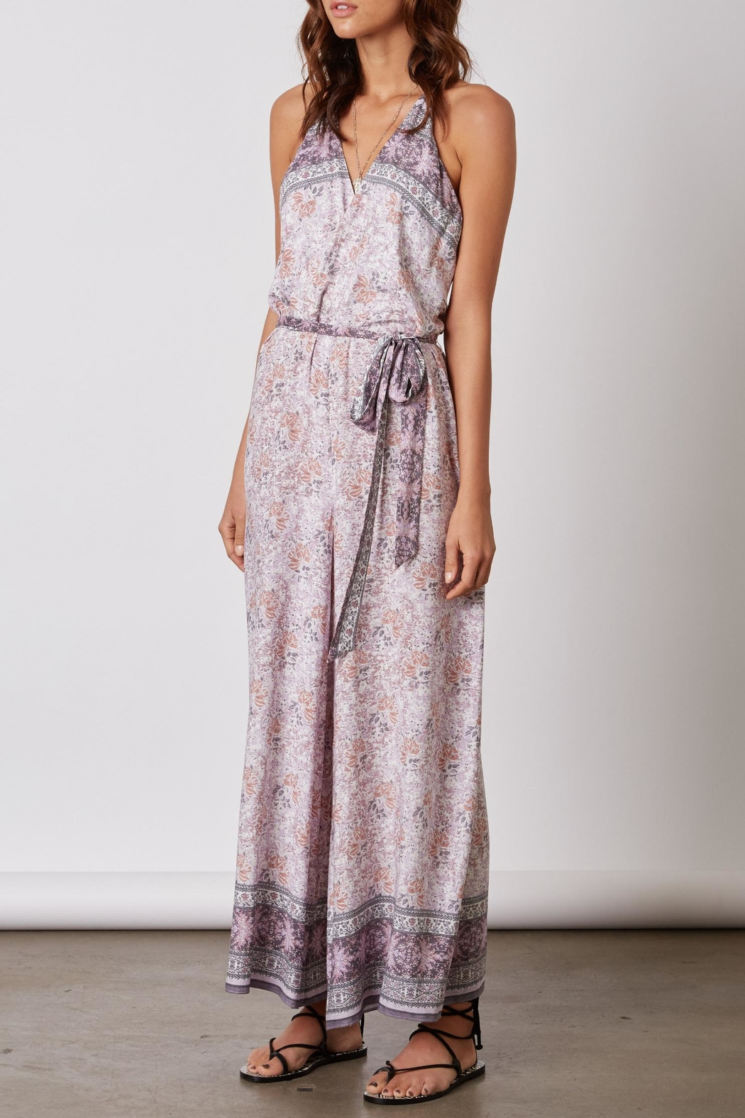 Cotton Candy Lilac Print Romper - Main Image