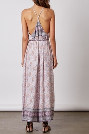 Cotton Candy Lilac Print Romper - Front full body