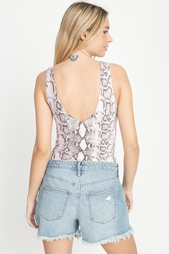 Fore Collection Lilac Snake Bodysuit - Alternate List Image