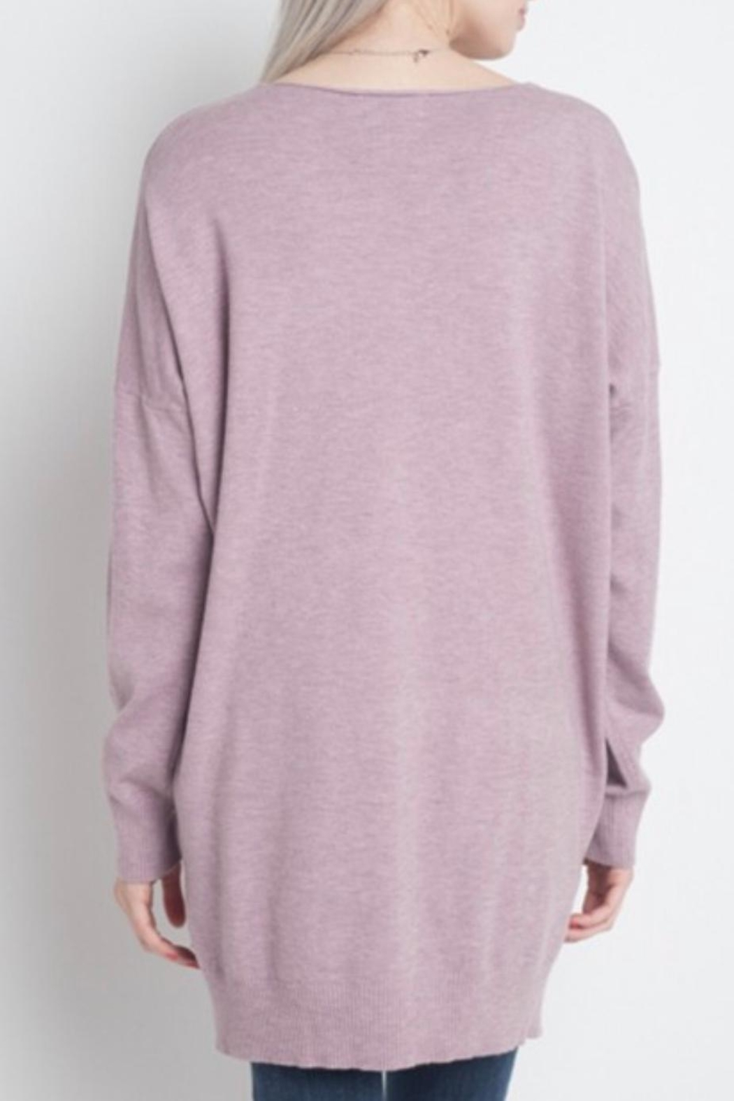 Dreamers Lilac Soft Sweater - Front Full Image