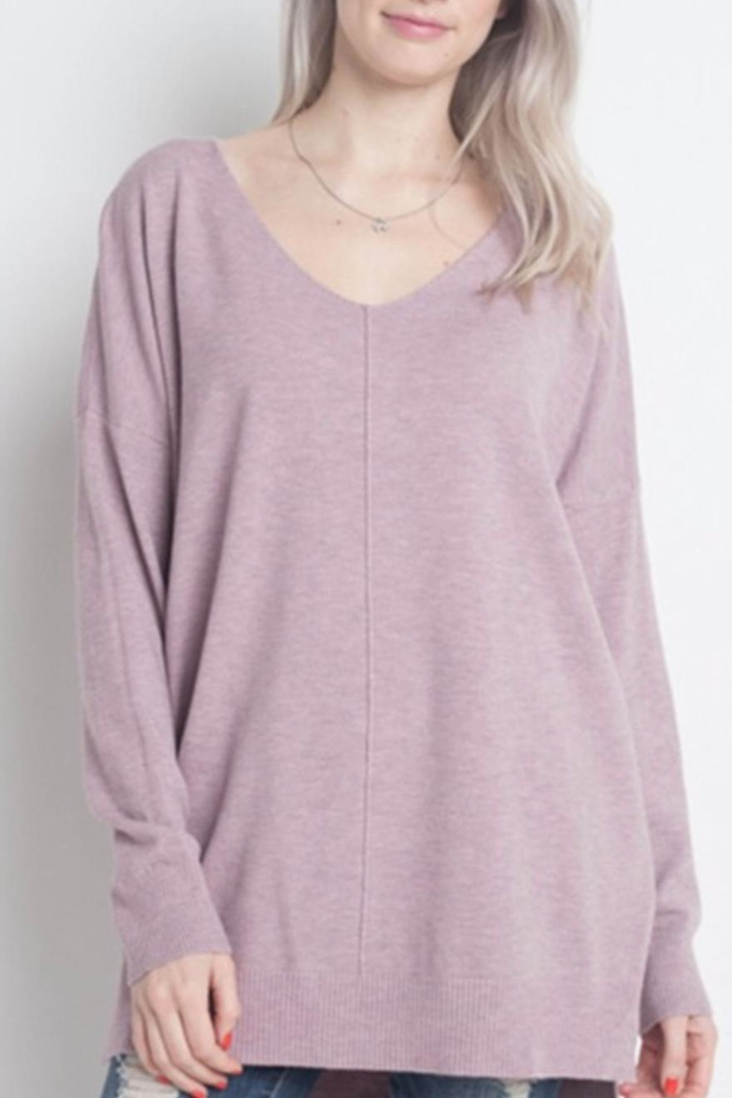 Dreamers Lilac Soft Sweater - Main Image