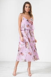 Urban Touch Lilacfloral Pleated Camimididress - Product Mini Image