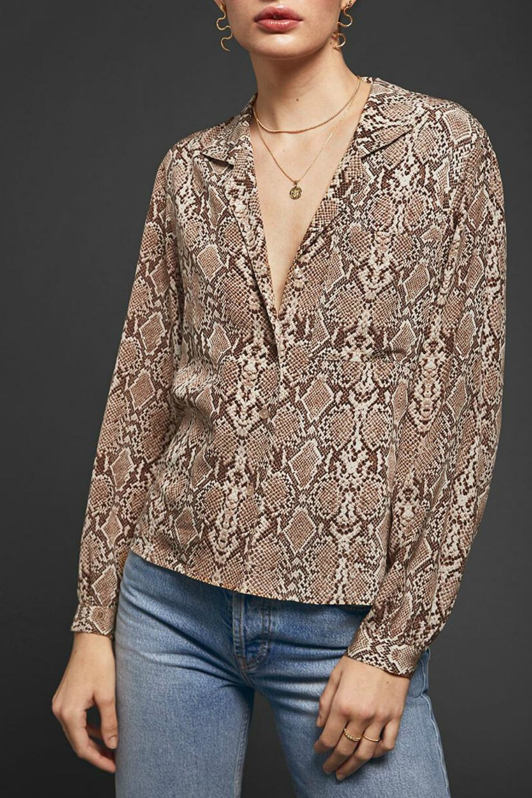 Anine Bing Lilah Blouse - Front Cropped Image