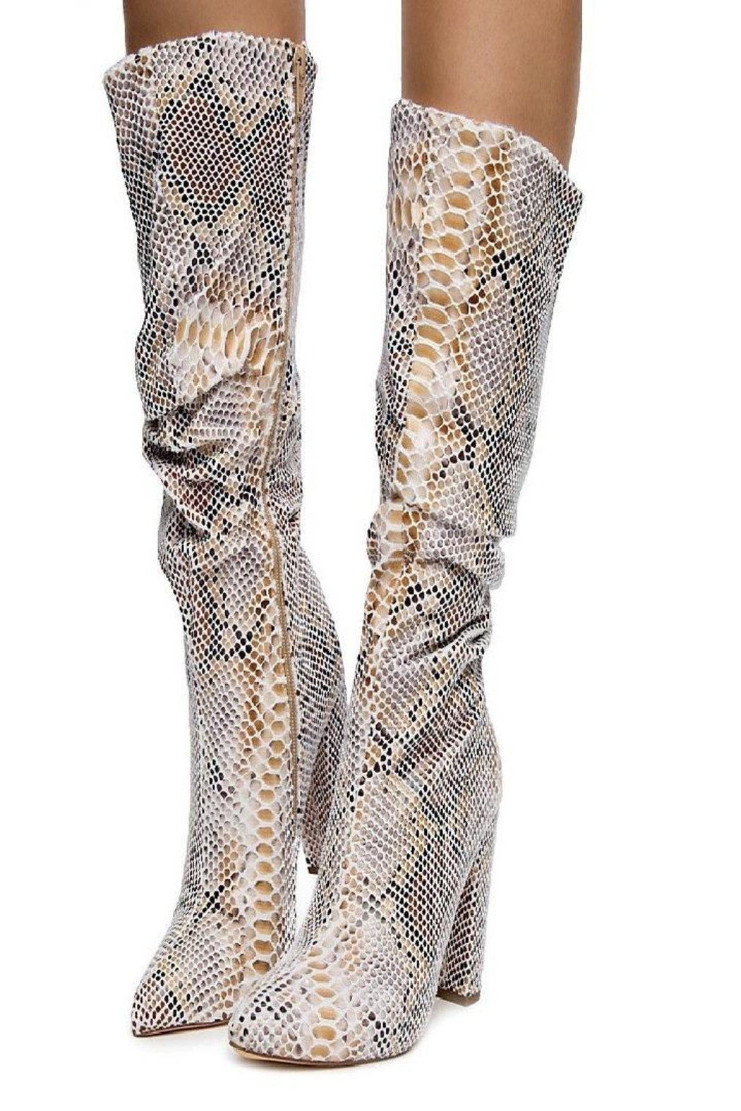 liliana Liliana Hariot-1 Women's Half Calf Boot Beige - Front Cropped Image