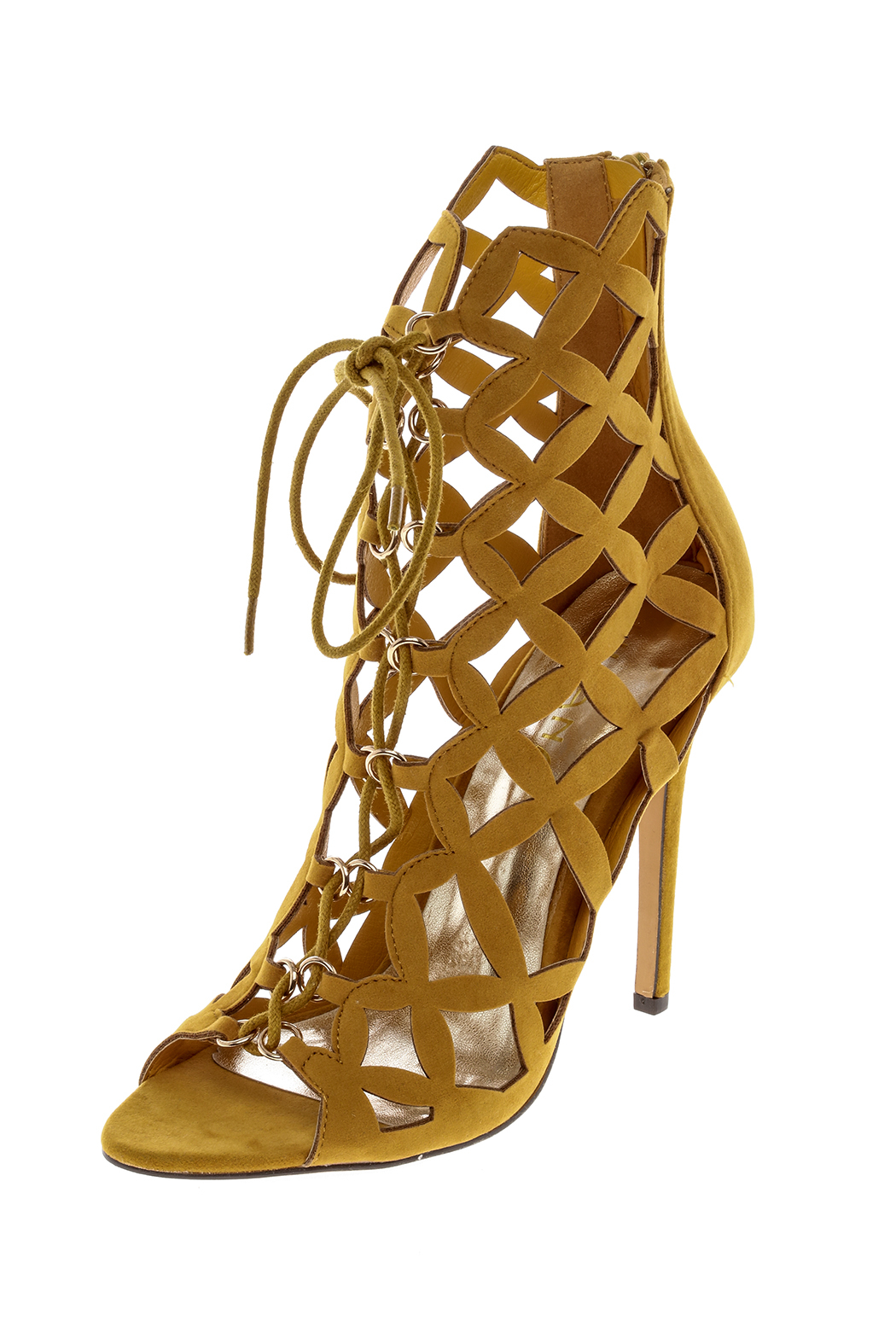 liliana Mustard Sandal Heels - Front Cropped Image