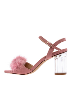 liliana Pink Faux Fur Heel - Product List Image