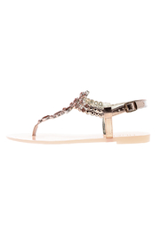 liliana Rose Gold Bejeweled Sandals - Side cropped