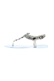 liliana Silver Bejeweled Sandals - Side cropped