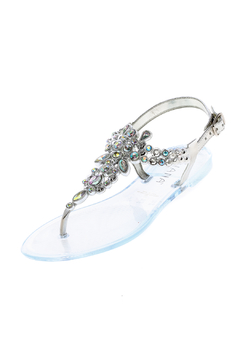 Shoptiques Product: Silver Bejeweled Sandals