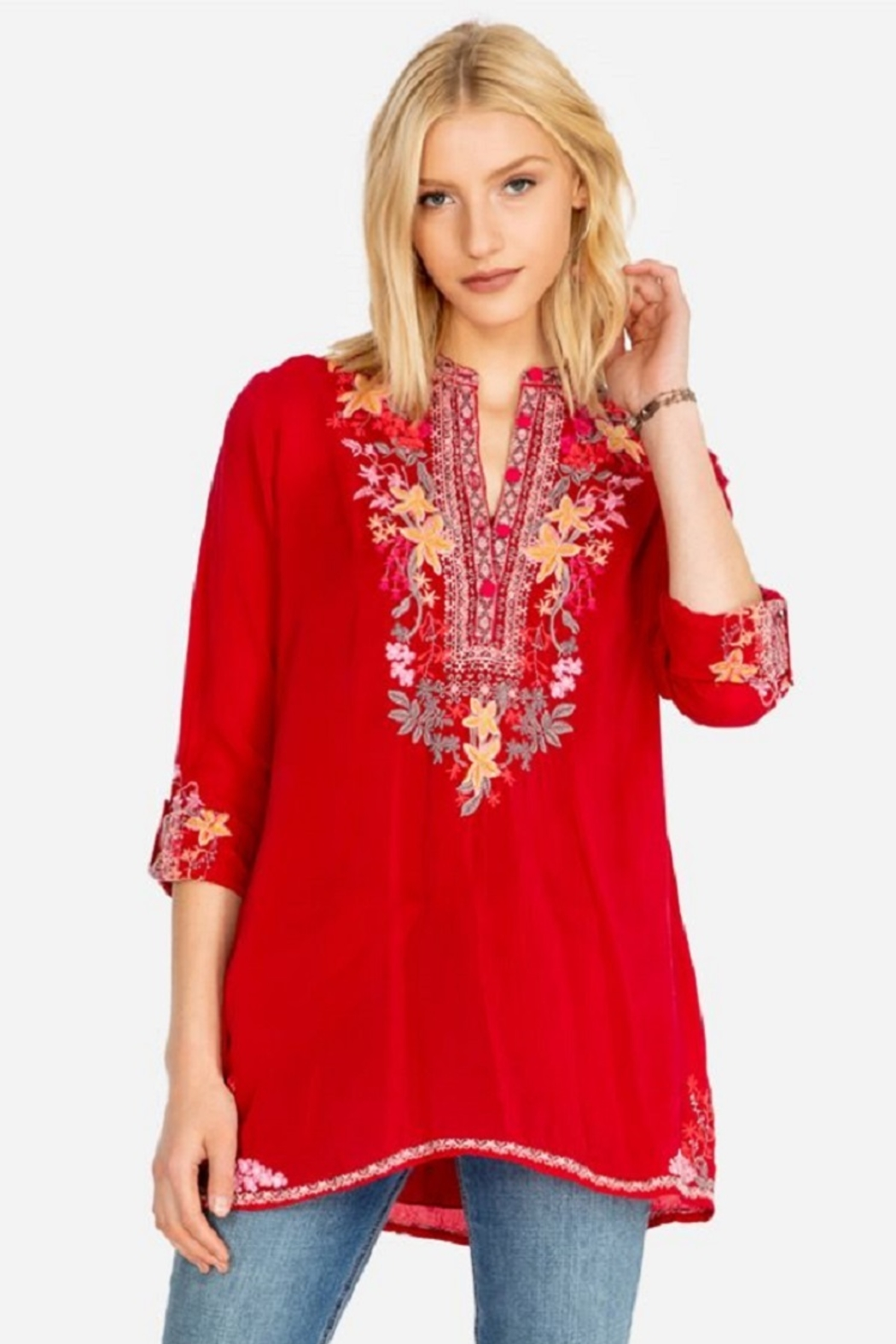 Johnny Was Liliana Tunic - Front Cropped Image