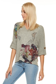 Inoah Lilies Knit Top - Product Mini Image