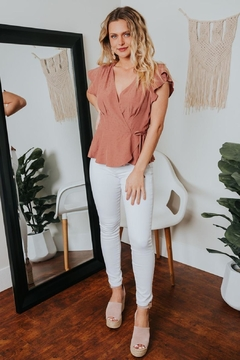 Gentle Fawn Lilium Ruffle Wrap Top - Product List Image