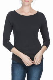 Lilla P 3/4 Sleeve Boat Neck Top - Product Mini Image