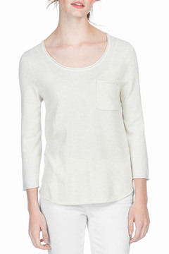 Shoptiques Product: 3/4 Sleeve Scoop Neck Sweater