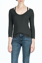 Lilla P Spilt Neck Scoop Top - Product Mini Image