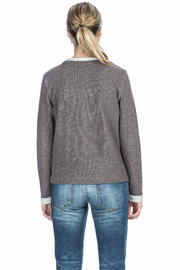 Lilla P Embroidered Neck Sweatshirt - Back cropped