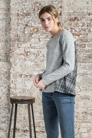 Lilla P Flannel Back Sweatshirt - Product Mini Image