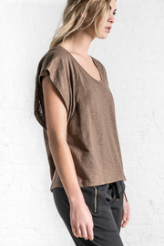 Lilla P Flutter Sleeve Scoop Top - Product Mini Image