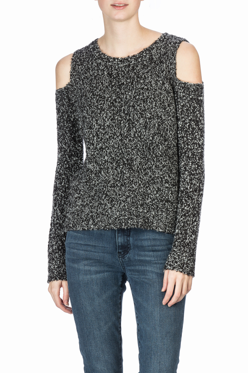 Lilla P Long Sleeve Cold Shoulder - Front Cropped Image