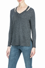 Lilla P Split Neck Top - Product Mini Image