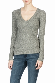 Lilla P Long Sleeve V-Neck Top - Product Mini Image