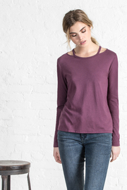 Lilla P Cut Out Neck Tee - Product Mini Image