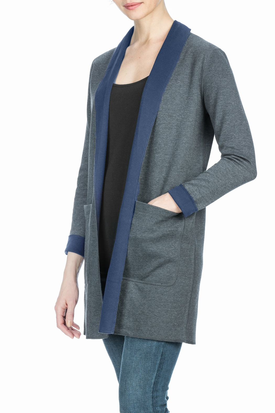 Lilla P Reversible Mid Length Coat - Front Full Image