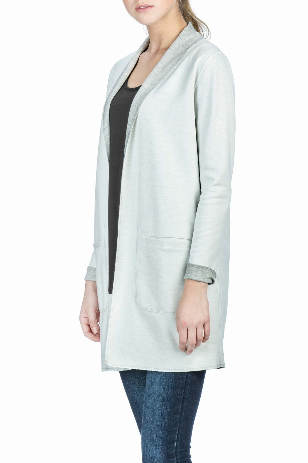 Lilla P Reversible Mid Length Coat - Side Cropped Image