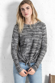 Lilla P Reversible Tie Front Sweatshirt - Product Mini Image