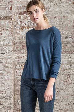 Lilla P Ribbed Sleeve Boatneck Top - Alternate List Image