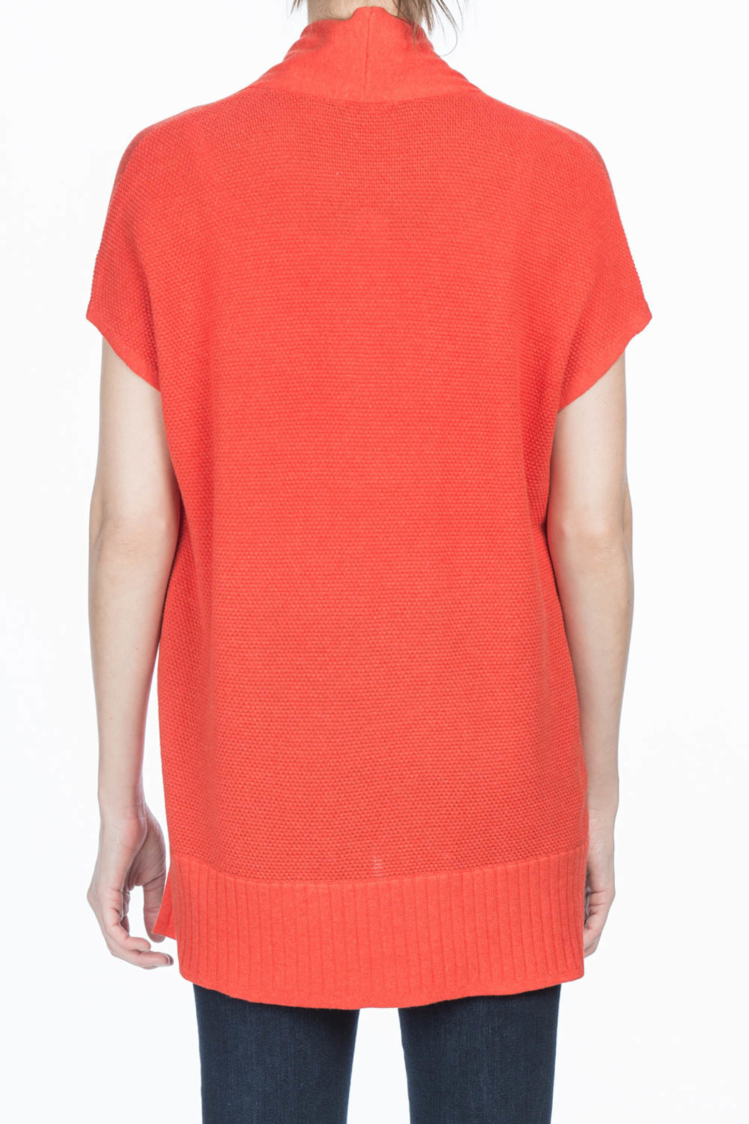 Lilla P Shawl Collar Pullover - Back Cropped Image
