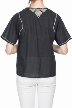 Shoptiques Product: Short Sleeve Embroidered Top