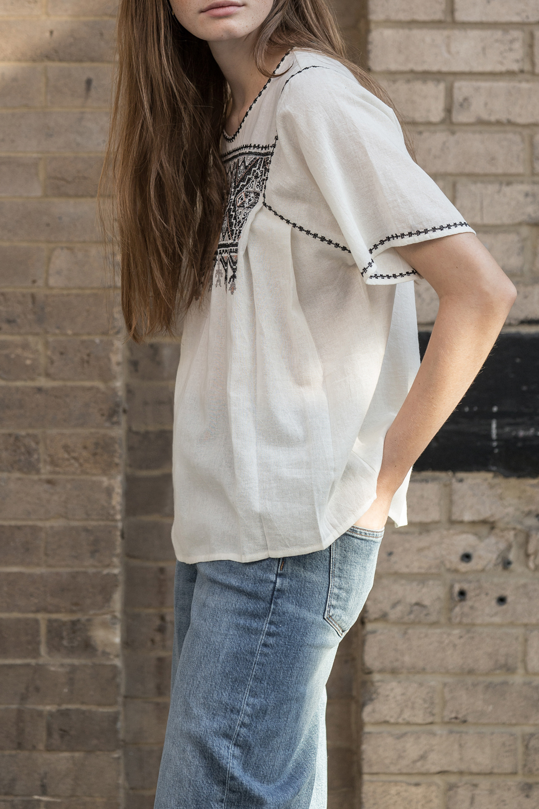 Lilla P Short Sleeve Embroidered Top from Syracuse by ... - photo#25