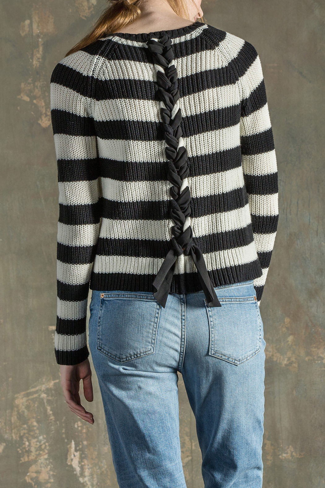 Lilla P Split Neck Sweater - Front Cropped Image
