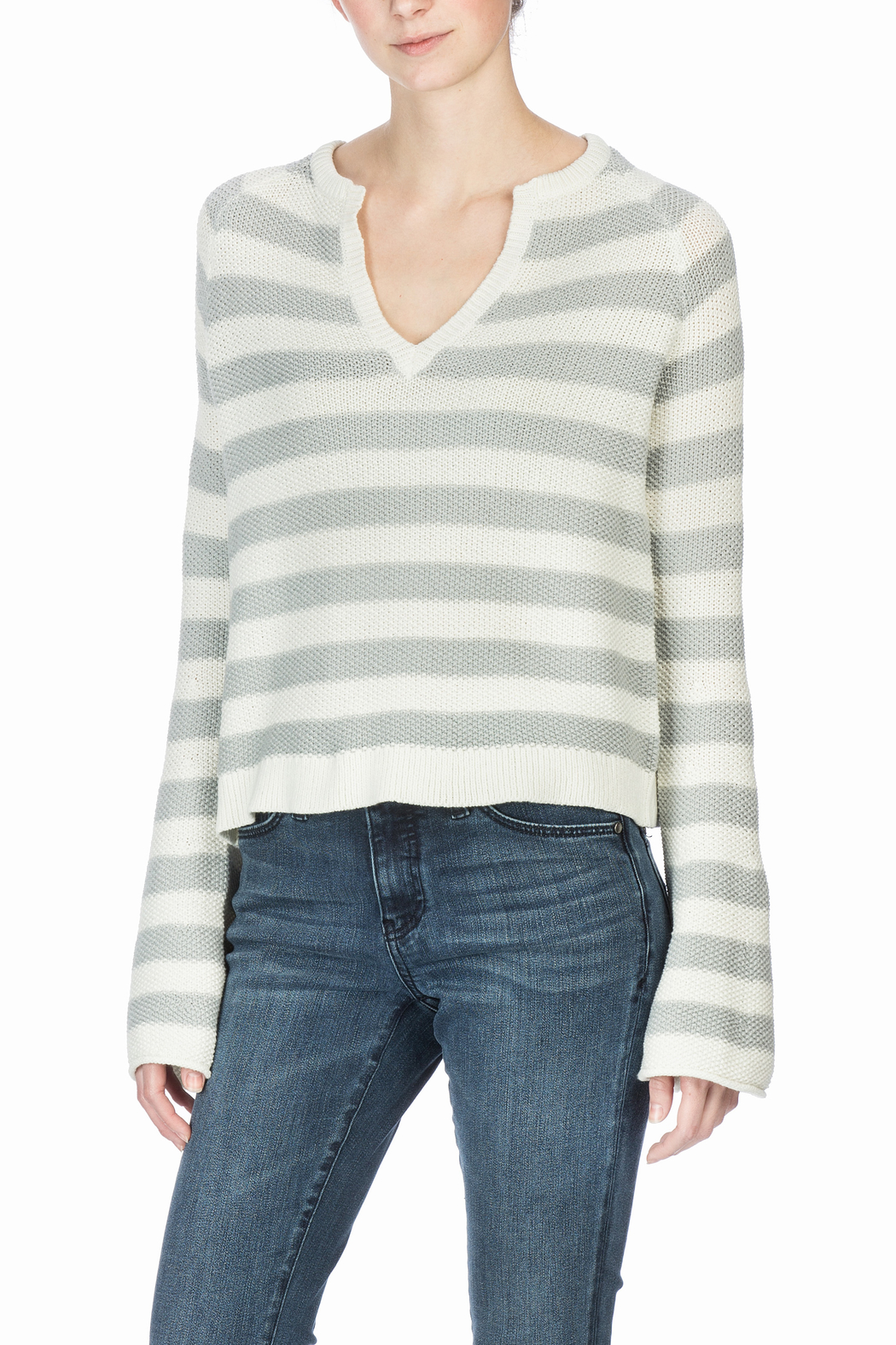 Lilla P Split Neck Sweater - Front Full Image