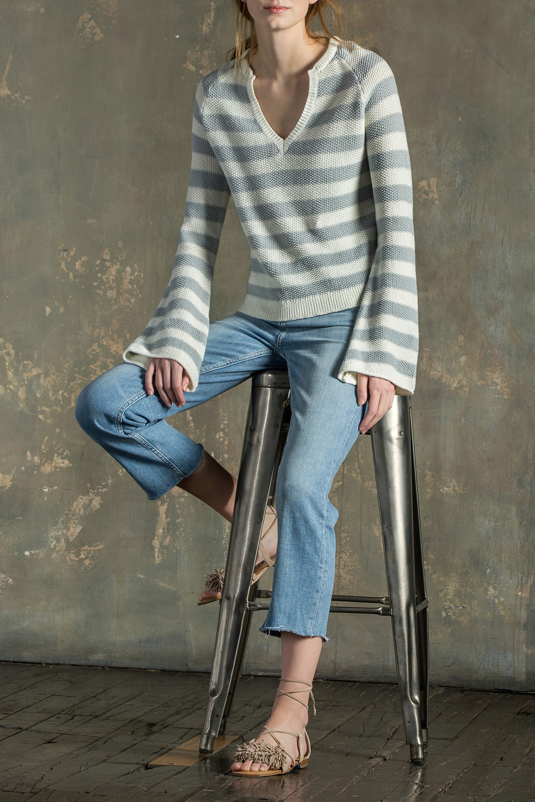 Lilla P Split Neck Sweater - Main Image