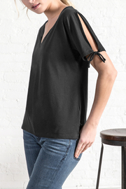 Lilla P Split Sleeve V-Neck Top - Product Mini Image