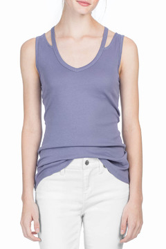 Shoptiques Product: V-Neck Cut Out Tank